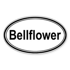 Bellflower (oval) Oval Decal