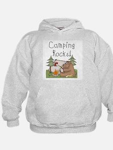 Bear Camping Rocks Hoodie