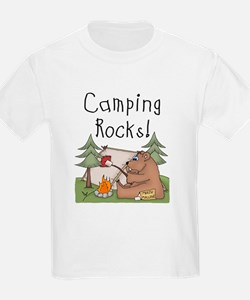 Bear Camping Rocks T-Shirt