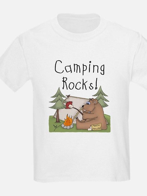 Bear Camping Rocks T-Shirt