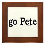 go Pete Framed Tile