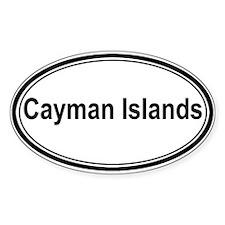 Cayman Islands (oval) Oval Decal
