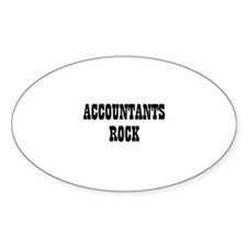 ACCOUNTANTS ROCK Oval Decal