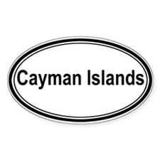 Cayman Islands (oval) Oval Decal