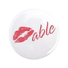 "Kissable Valentine 3.5"" Button (100 pack)"