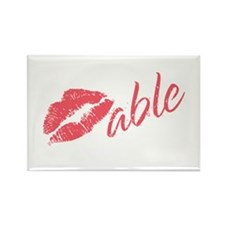 Kissable Valentine Rectangle Magnet