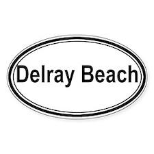 Delray Beach (oval) Oval Sticker (50 pk)