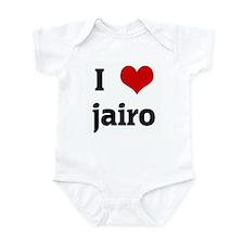 I Love jairo Infant Bodysuit