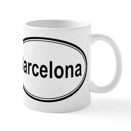 Barcelona oval mug by citytownshirts for Mug barcelona