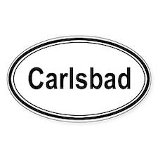 Carlsbad (oval) Oval Sticker (50 pk)