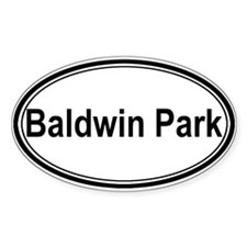 Baldwin Park (oval) Oval Decal