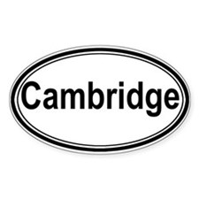 Cambridge (oval) Oval Decal