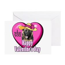 German Shepherd V-day Greeting Card