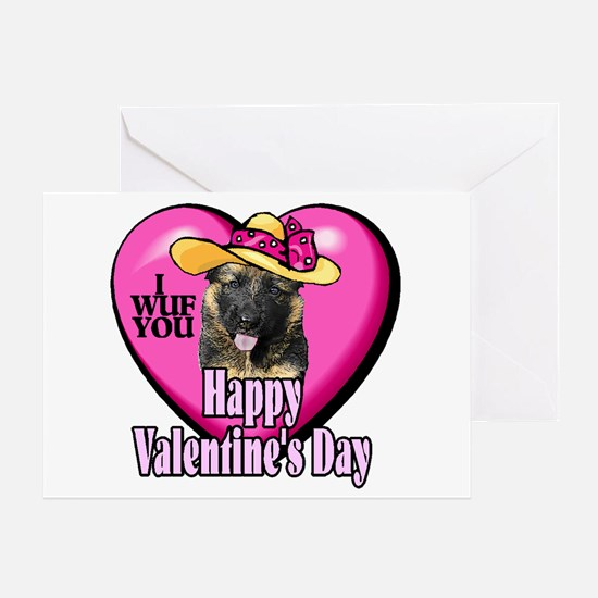 German Shepherd V-day Greeting Card