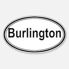 Burlington (oval) Oval Decal