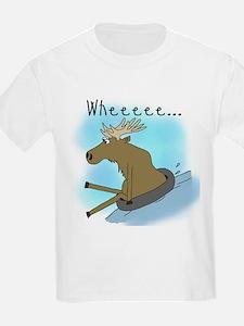 Snow Tubing Moose T-Shirt
