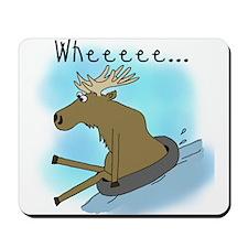 Snow Tubing Moose Mousepad