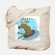 Snow Tubing Moose Tote Bag
