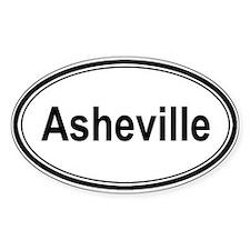 Asheville (oval) Oval Sticker (10 pk)