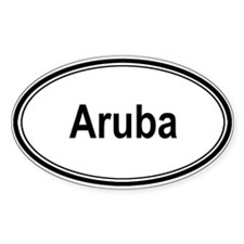 Aruba (oval) Oval Decal