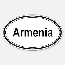 Armenia (oval) Oval Decal