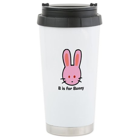 B is for Bunny Stainless Steel Travel Mug