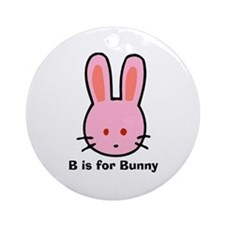 B is for Bunny Ornament (Round)