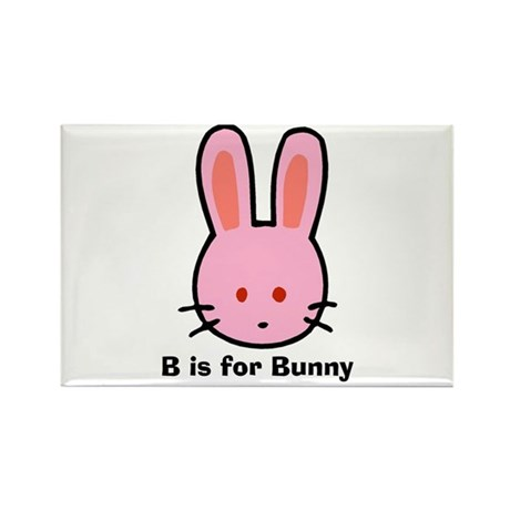 B is for Bunny Rectangle Magnet