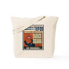 Barack Obama Advertisement Tote Bag