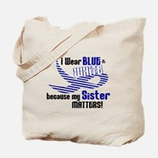 I Wear Blue & White For My Sister 33 Tote Bag