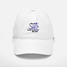 I Wear Blue & White For My Sister 33 Baseball Baseball Cap