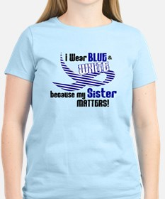I Wear Blue & White For My Sister 33 T-Shirt