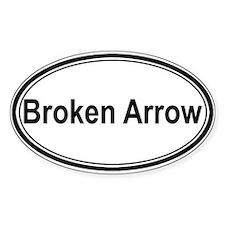 Broken Arrow (oval) Oval Decal