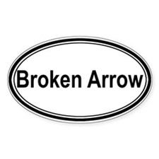 Broken Arrow (oval) Oval Bumper Stickers