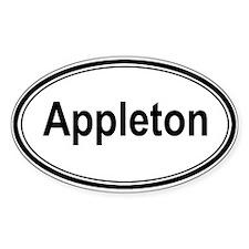 Appleton (oval) Oval Sticker (10 pk)