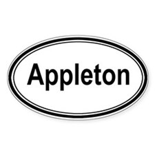 Appleton (oval) Oval Decal