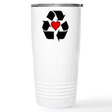 Recycle Heart Travel Coffee Mug