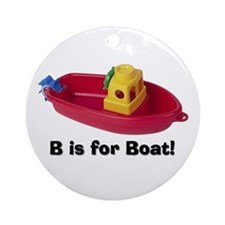 B is for Boat Ornament (Round)