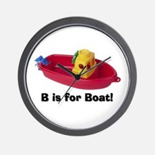 B is for Boat Wall Clock