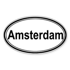 Amsterdam (oval) Oval Sticker (50 pk)