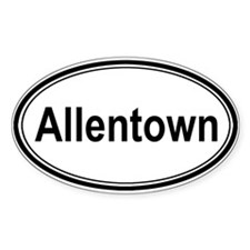 Allentown (oval) Oval Decal