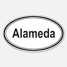Alameda (oval) Oval Decal