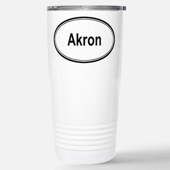 Akron (oval) Stainless Steel Travel Mug