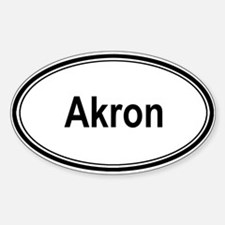 Akron (oval) Oval Decal