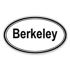 Berkeley (oval) Oval Decal