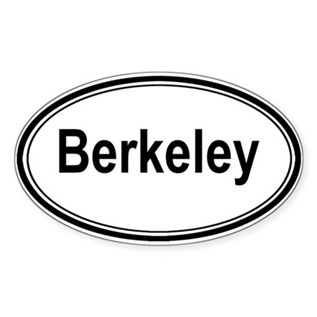 Berkeley (oval) Oval Sticker
