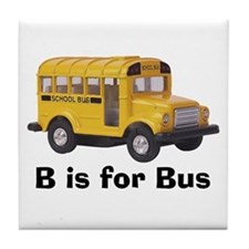 B is for Bus Tile Coaster
