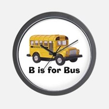 B is for Bus Wall Clock