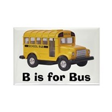 B is for Bus Rectangle Magnet