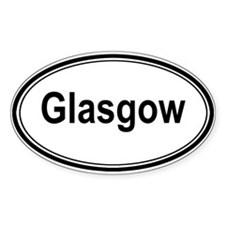 Glasgow (oval) Oval Decal